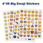 Paper Emoji Stickers total 192 pcs on 4 pagesmix designs cell phone decor