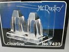 Vintage Mr Dudley Salt Shaker  Pepper Napkin Holder Clear Lucite Acrylic