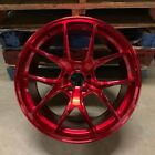 20 RED VORTEX STYLE WHEELS RIMS FITS BMW 528I 535I 5 SERIES AWD ONLY