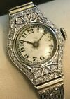 PIAGET Ladies Platinum & White Gold Cocktail Watch with Diamonds cir. 1920's- NR