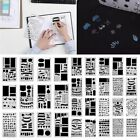 12 20pc Bullet Journal Stencil Set Plastic Planner DIY Drawing Template Diary US