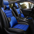 Deluxe Leather Universal Car Seat Cover 5 Seat Front Rear Full Surround Wpillow