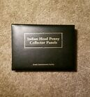 PCS Indian Head Penny Collector Panels  Native American Indian Stamps in Binder