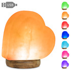 Magic Salt USB Heart Shaped Pink Salt Lamp with 7 Color Changing LED 2 LBS