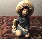 Lladro Fernando Little Mexican Boy With Dog Porcelain Figurine #2167