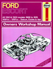 Ford Escort Mk 1 1968-1974 1100 1300 GT Haynes Workshop Manual Service Repair