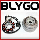 8 Poles Magneto Stator Roller Flywheel 200cc 250cc Engine PIT Quad Dirt Bike ATV