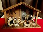 Nativity Set stable 10 figurines Mary Joseph Baby Jesus animals shepherds wiseme