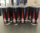 8 VINTAGE LIBBEY HOLT HOWARD SANTA CLAUS DRINKING GLASSES TUMBLERS CHRISTMAS CUP