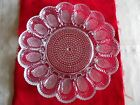 Deviled Egg serving dish plate 1950's clear 11 1/4