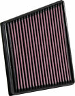 K&N Replacement Air Filter for Jaguar F-Pace, XE, XF / 33-3075