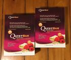 LOT 24 Bars Quest White Chocolate Raspberry Protein Fiber FRESH Sealed Boxes