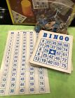 50 Vintage Bingo Cards, Markers & Checking Chart, Whitman1981 USA (Replacements)