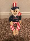 Rally Monkey Uncle Sam ANGELS BASEBALL 2009 TY  Beanie Baby Rally Doodle Dandy