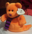 TY Beanie Babies SHIVERS ORANGE HALLOWEEN BEAR GHOST Plush RETIRED WT tags 2004