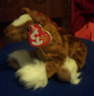 TY Beanie HOOFER THE CLYDESDALE HORSE RED BOWS TAGS RETIRED