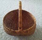 Large Vintage Egg Market Basket Top Opening 12 by 13  12 tall w Handle