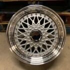 17 RS STYLE WHEELS RIMS SILVER FITS E30 BMW 3 SERIES TOYOTA YARIS TERCEL