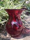 Blenko Ruby Red Vase