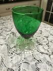 Boopie Forest Green Water Goblet 5 1/2 Inches