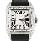 Cartier Men's Santos 100 XL Diamond Watch with Original Leather Band with Box