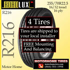 Motor Home Tires 255 70R225 INCLUDES SHIPPING  INSTALLATION