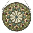 Window Panel Tiffany Style Cut Stained Glass Summer Floral Design 234 Round