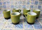 VINTAGE FIRE KING COFFEE MUG ANCHOR HOCKING Stackable - Green