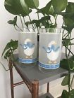 Vintage Libbey Glasses Frosted Country Geese