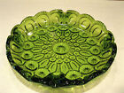 Vintage L.E. Smith Moon and Stars Green ASHTRAY Nice Condition
