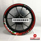 DUCATI MONSTER 696 795 899 821 1200S Reflective Wheel Stripe Decal Red Sticker