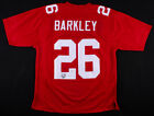 Saquon Barkley NY Giants Autographed Red Rookie Jersey Beckett Authenticated