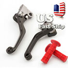 For HONDA CRF450R 2002-2003 Pivot Dirt Brake Clutch Lever +Grips CR80R CR85R US