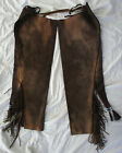 Native American Leather Chaps pants western Comanche Movie Prop Lone Ranger 2