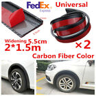 2X 150cm Rubber Car SUV Truck Fender Flare Extension Wheel Eyebrow Protector Lip