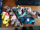 Lot 6 ty Beanie Babies Scorch Pickles iggy Swoop Scaly Steg & Woodstock LIMITED