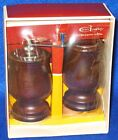 Vintage Mr Dudley Wooden Salt Shaker And Pepper Mill walnut never used in box