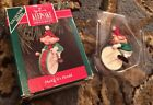 1990 Hallmark Hark! It's Herald Elf Ornament Dated With Original Box