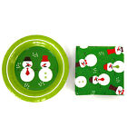 7 Christmas Snowman Paper Plates and Napkins Set Dinnerware Party Serves 18