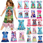 Kids Toddler Girl Cartoon Princess Tunic Dress Summer Sundress Pajamas Sleepwear