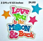 LOVE YOU TO MOON  BACK TITLE GIRL scrapbook premade paper piecing by Rhonda