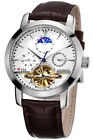 TSS Men's Automatic Tourbillon Moonphase Mechanical Stainless Watch T8030