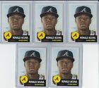 (10) Card Lot 2018 Topps Living Set Card #19 Ronald Acuna RC Rookie Braves