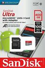 Sandisk Ultra 400GB Micro SDXC UHS I Card with Adapter SDSQUAR 400G GN6MA