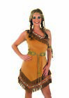 Womens Indian Squaw Girl Costume Ladies Native American Western Fancy Dress S XX