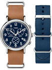 Timex Unisex Weekender Chronograph Watch Gift Set, Brown Leather Strap + Extra N