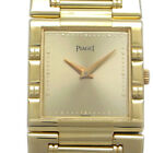 Auth Piaget 750 Yellow Gold Champagne Dial Dancer Men's Watch 23mm (DH47017)