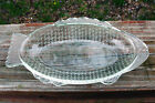 Vintage Glasbake Fish Shape 9 Inch Oval Glass Serve Baking Dish, Jeannette USA