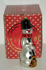 CLASSIC BUTTONS SNOWMAN Christopher Radko 1017388 Blown Glass Ornament NIB $53