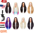 Mannequin Head with Hair Female Cosmetology Doll Head Mannequin Hair Training